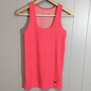 Under Armour Heat Gear Pink Athletic Tank Top